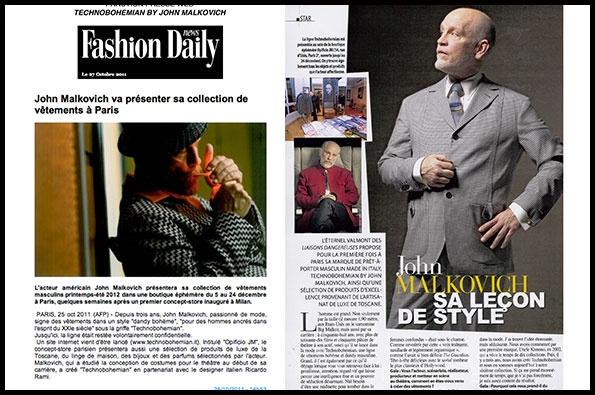 Showroomby - Un espace évènementiel unique en plein coeur de Paris : Article du Fashion Daily News - John Malkovitch